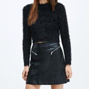 NWT Minkpink Faux Leather Skirt